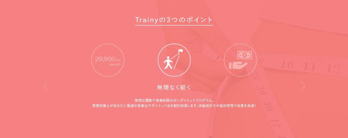 【Trainyの評判】メリット③結果を求めた無理な運動はない